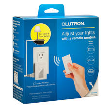lutron plug in l dimmer plug in l dimmer with pico remote control kit by lutron p pkg1p wh