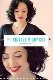 the perfect vintage hair cut u2013 the middy and how to style it