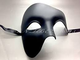 men masquerade mask black phantom of the opera half men masquerade mask costume