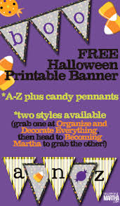 free printable halloween banner becoming martha