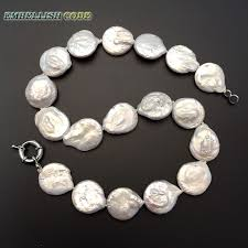 large pearl necklace images Hot large size baroque pearl choker necklace bracelet set fine jpg
