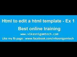 edit html template how to edit html templates website developement