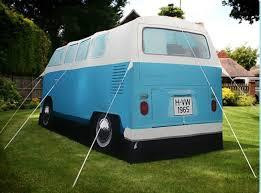 volkswagen bus beach vw camper van tent gadget flow