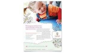 daycare brochure template babysitting daycare flyer template design