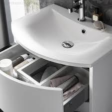 bauhaus svelte vanity unit with mineral marble basin uk bathrooms