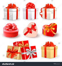 boxes with bows set colorful vector gift boxes bows stock vector 113207779