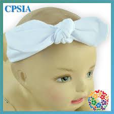 knot headband pink gum stripe knit elastic polyester headbands baby knot