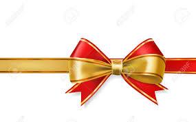ribbons and bows and gold ribbons bows vector decorative element royalty free