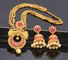 long necklace sets images Traditional necklace set at rs 2175 piece pendant set satyam jpg