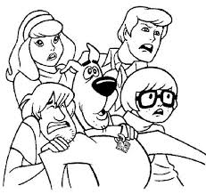 scooby doo coloring pages vampire halloween hallowen coloring