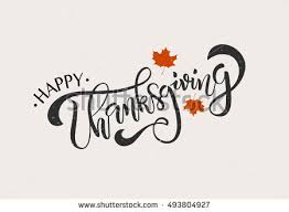 happy thanksgiving typography poster stock vector