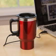 Heated Coffee Mug | dual heated travel mug thinkgeek