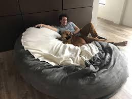 8 u0027 diameter 2 5 u0027 tall beanbag 8 foot dog bed album on imgur