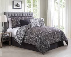 piece minka gray purple reversible comforter set