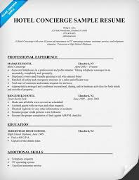 Hotel Resume Example by Extraordinary Design Concierge Resume 16 Residential Concierge
