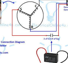 winsome ceiling fan capacitor wiring connection diagram with