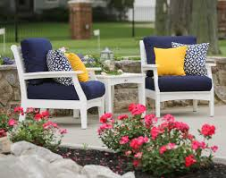 Canvas Patio Chairs by Poly Lumber Classic Terrace Chair W Sunbrella Cushions