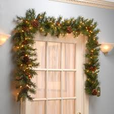 pre lit wreath national tree co pre lit pine cone garland reviews wayfair