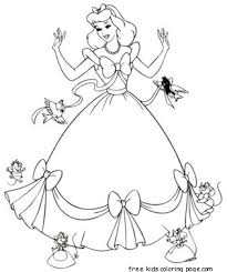 cinderella dress coloring pages printable girlsfree