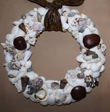 home decoration cute white seashell wreath ideas beautiful