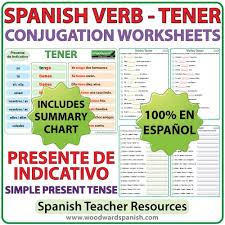 tener u2013 spanish verb conjugation worksheets u2013 present tense
