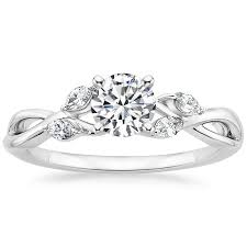 preset engagement rings preset 18k white gold willow ring 1 8 ct tw with 1 2