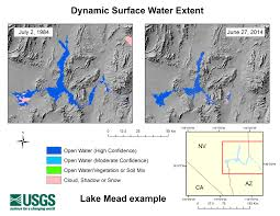 Lake Mead Map Dynamic Surface Water Extent Land Imaging Report Site