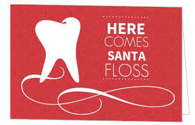 Business Holiday Card Red Dental Office Business Holiday Card