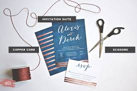 navy wedding invitations navy copper wedding invitations with diy copper cord bind the