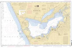 Map Of Michigan Lakes Muskegon Harbor Michigan Muskegon Lake Nautical Chart νοαα