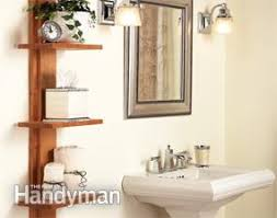 Shelving Units For Bathrooms Home Organization Tips And Storage Tips Family Handyman