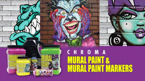 chroma mural paint mural paint markers youtube