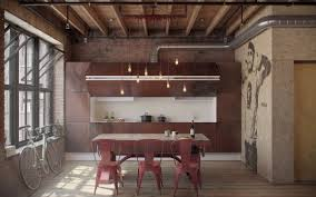 red interior design industrial style dining room traditional with interior design