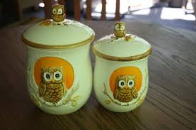 owl canisters for the kitchen kitchen counter canister sets zhis me