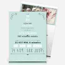 invitation anniversaire mariage invitation anniversaire de mariage réf n22130 monfairepart