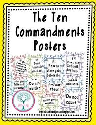 all worksheets ten commandments worksheets free printable
