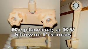 Rv Tub Shower Faucet Replacing Your Rv Shower Fixtures Youtube