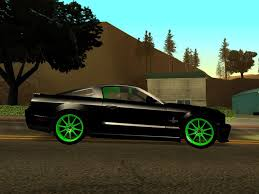 Green And Black Mustang Gta San Andreas Ford Mustang Shelby Gt500kr 427 Black U0026 Green