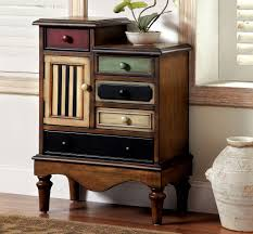 multi colored finished accent chest caravana furniture