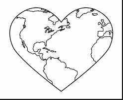 surprising earth heart coloring pages earth coloring