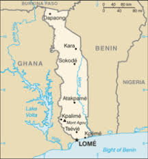 togo location on world map togo