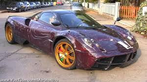 pagani huayra gold purple carbon pagani huayra on road youtube