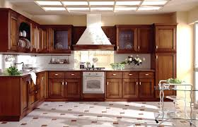 Wooden Kitchen Cabinets with Modern Interior Decoration