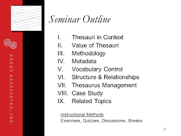 organizing synonym synonyms taxonomies thesaurus design for information architects