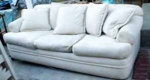 shabby chic off white sofa couch w down feather f diggerslist