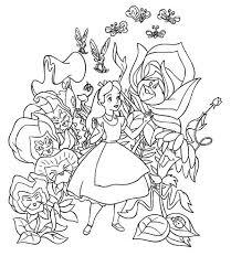 fantasy alice wonderland coloring download