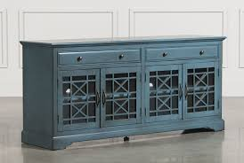 Picture Of Tv Annabelle Blue 70 Inch Tv Console Living Spaces