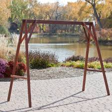 porch swing frame stand alone basic 9 lakeland mills country