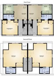 Floor Plans For Log Cabins Highlands Iv A Duplex Log Home Floor Plan Blue Ridge Log Cabins