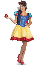 Deluxe Womens Halloween Costumes Disney Princess Snow White Sassy Deluxe Costume Disney